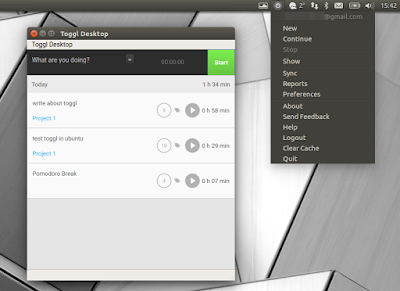 Toggl Linux desktop application