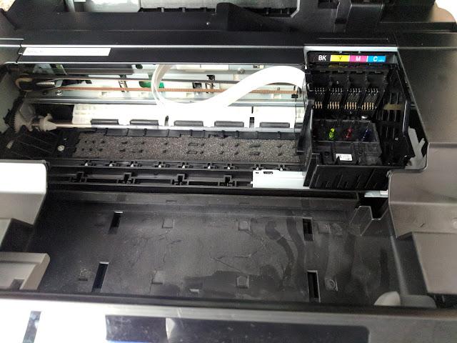 Absorbedor de tinta en impresoras de inyección Canon