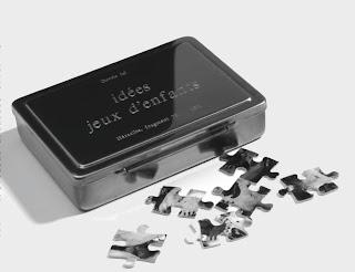 Boite métallique gravée, puzzle , 2011