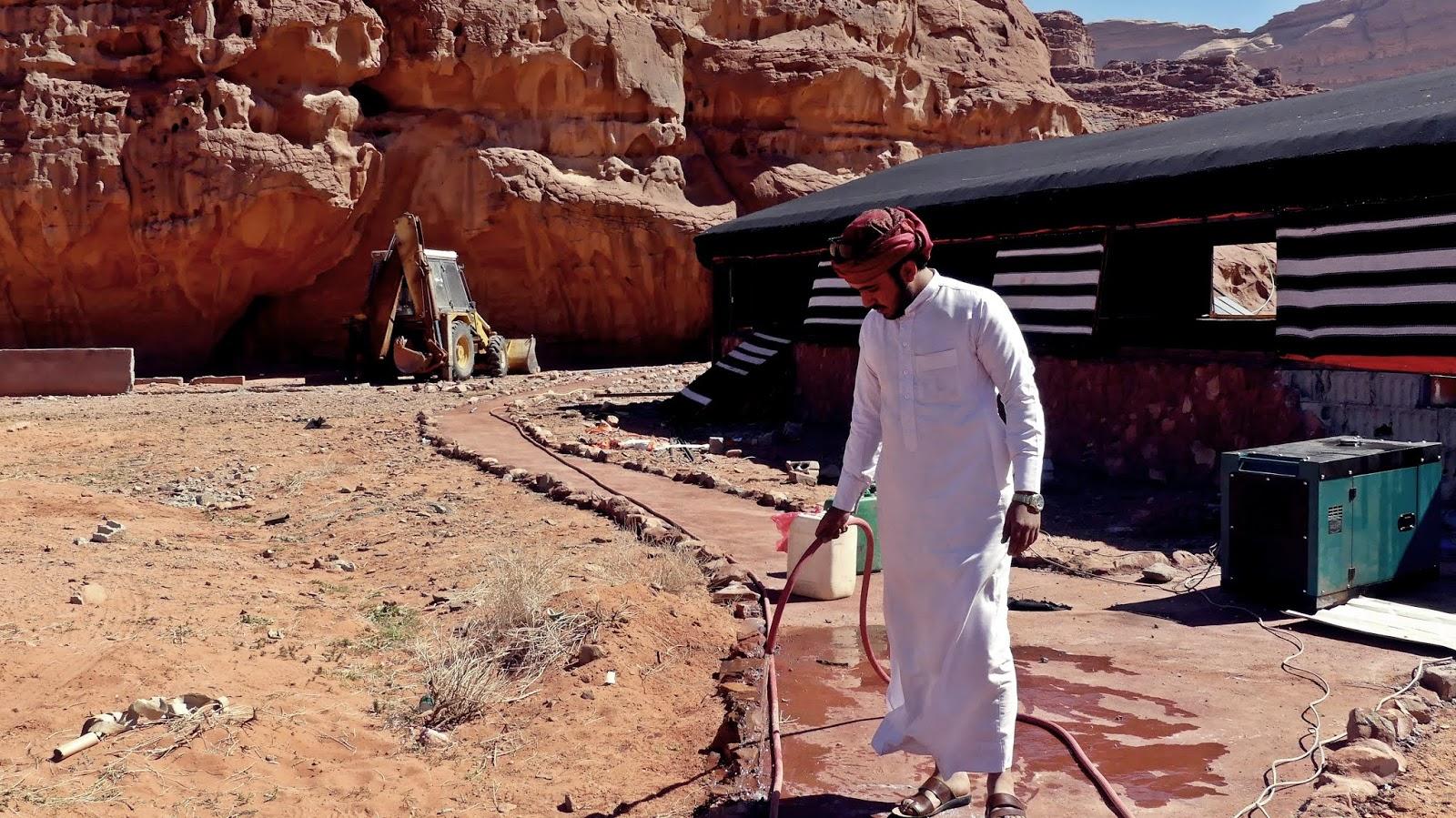 Wadi Rum kemping na pustyni