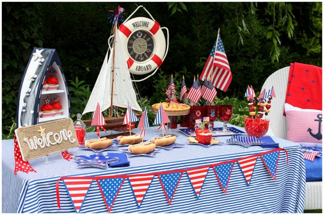 Coralie Nautical Fourth Of July Party