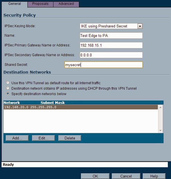 Tech at Mount: Sonicwall to Palo Alto Networks VPN Configuration