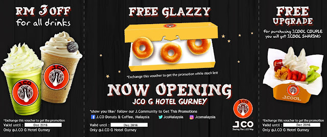 J.CO Donuts & Coffee Malaysia Free Glazzy Upgrade Discount Voucher