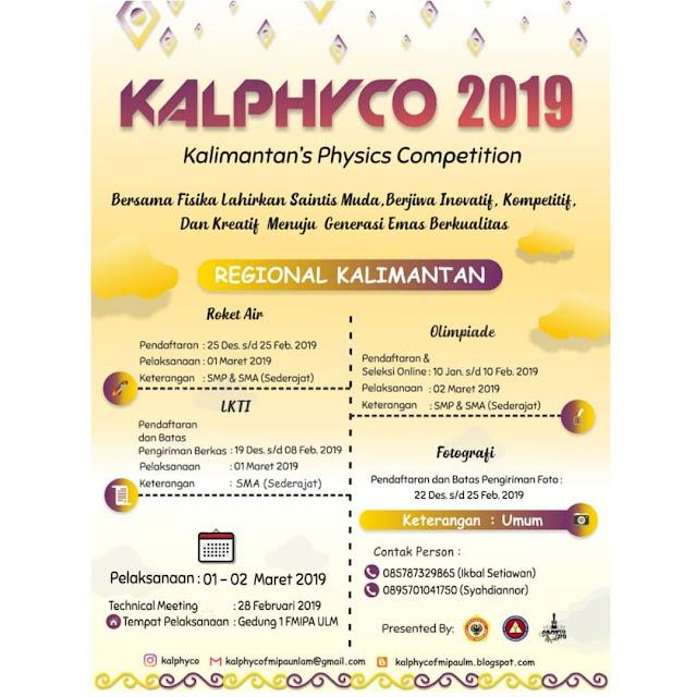 Event Kalphyco 2019 SMP SMA Sederajat Dan Umum