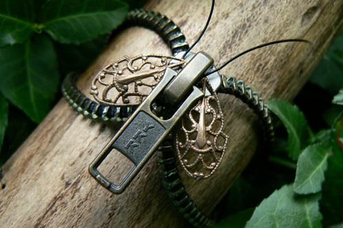 Nature Inspired Steampunk Zipper Jewelry The Beading Gems Journal