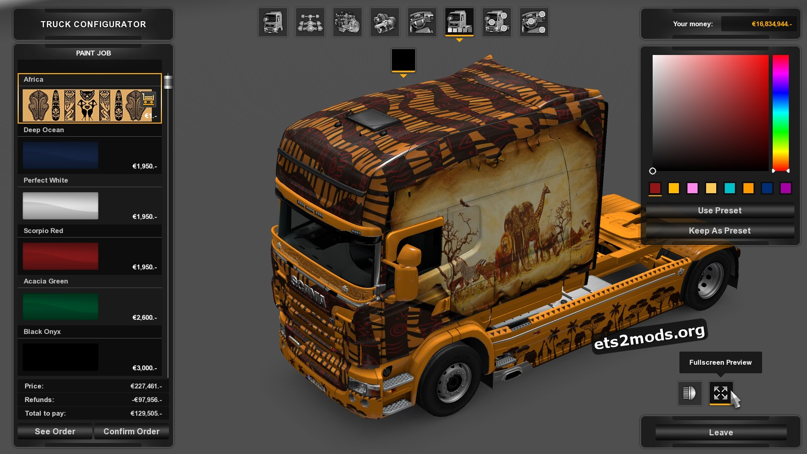 Africa Skin for Scania RJL