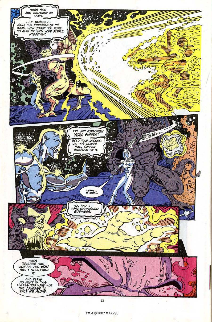 Read online Silver Surfer (1987) comic -  Issue #65 - 24