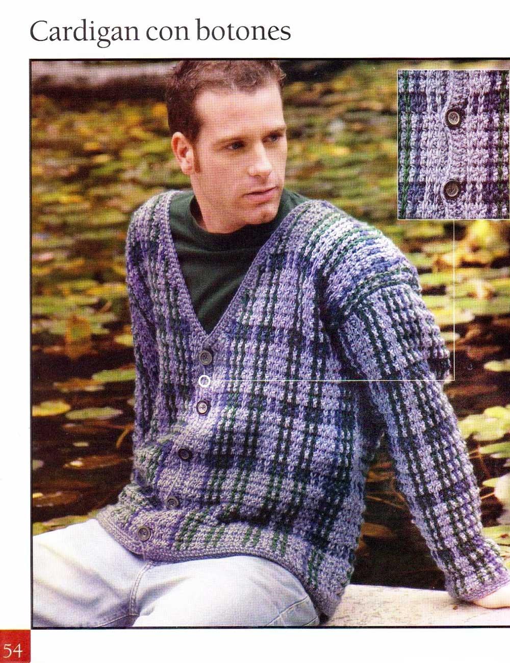 chaqueta hombre crochet, chaqueta ganchillo hombre, patrones crochet