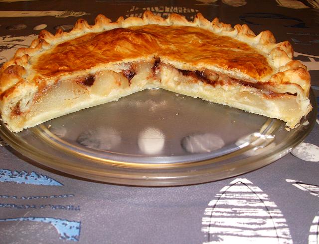 dessert tarte tourte galette sucrée galette des rois poires chocolat caramel pâtisserie