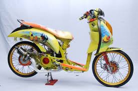 Modifikasi Honda scoopy retro