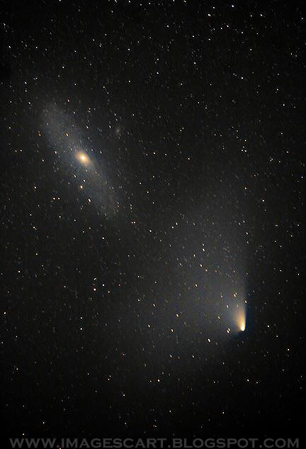 Here you can View Latest Pictures of Comet PANSTARRS Meets the Andromeda Galaxy at england March 2013 and upcoming Galaxy Meet Photos.
