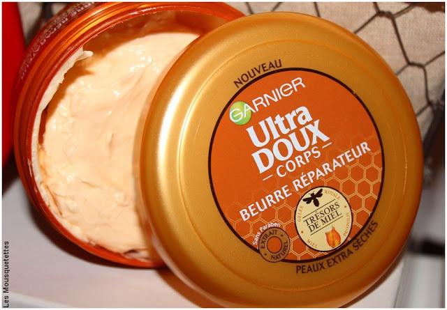 Lait ou beurre corporel, que choisir ? - Beurre Garnier Ultra Doux - Blog beauté
