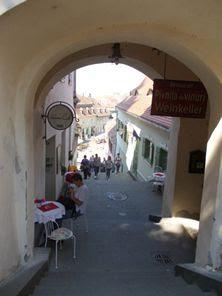 Sibiu - Spre Sibiul de Jos, privind de sub Turnul Scării/Scărilor