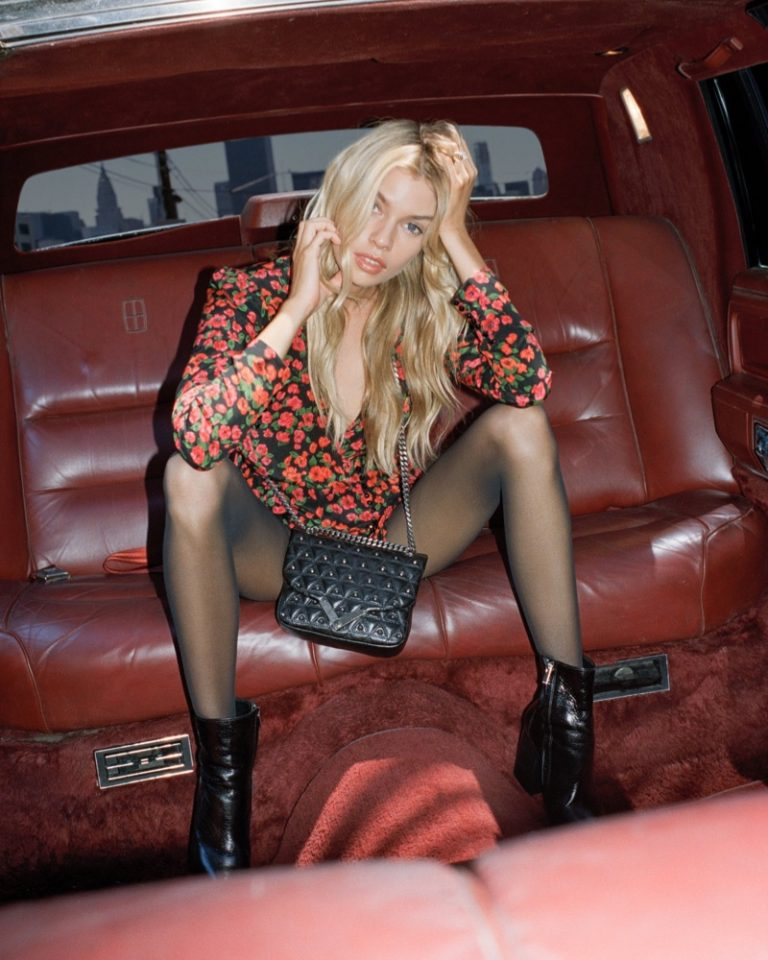 Stella Maxwell designs the 'Stella' bag for The Kooples