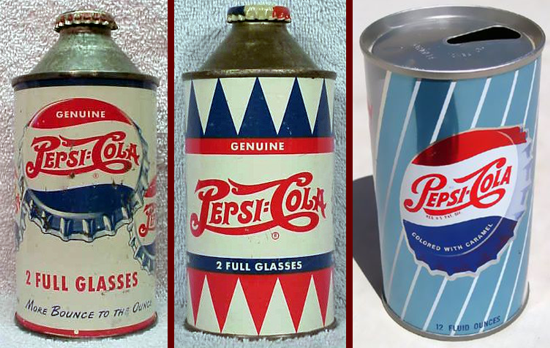 Pepsi-Cola early cans