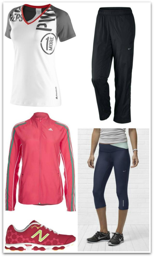 bca3b82459a Camiseta de tejido absorbente con sujetador interior de Reebok  36€ (hasta  la talla 48) Pantalón pirata de Nike  52€ (hasta la talla XL)