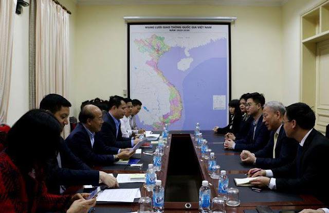 Thứ trưởng GTVT Nguyễn Văn Công vừa làm việc với Chủ tịch Tập đoàn Thái Bình Dương