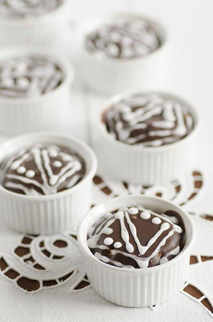 Cupcake  all'arancia e cioccolato fondente