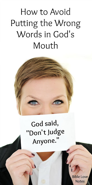 The Only Way to Avoid Misquoting God