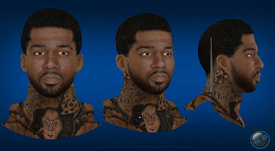 NBA 2K13 Wilson Chandler Cyberface w/ Mouthpiece