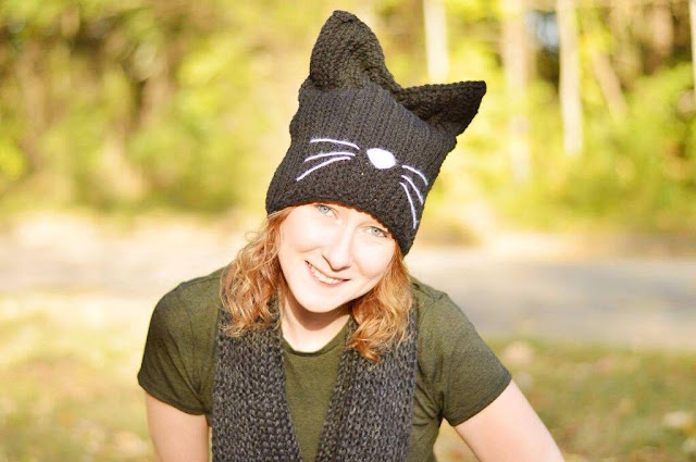 With Alex Black Cat Hat Free Crochet Pattern