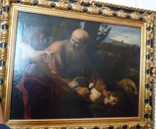 El Sacrificio de Isaac de Caravaggio.