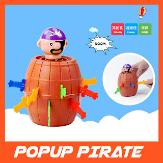 Popup Pirates 16 Swords Fun Family Toys Games Lucky Barrel Roulette Game Party
