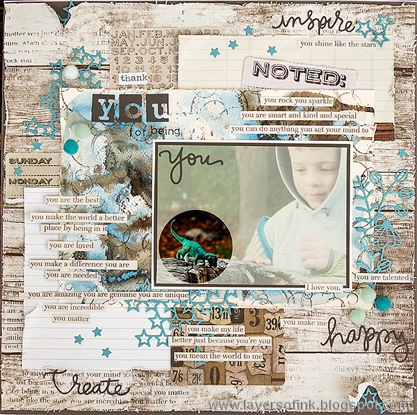 Layers of ink - You Matter Layout by Anna-Karin
