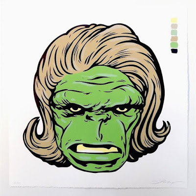 "C2E2 2016 Exclusive Marvel ""Hulk (Look) Smashing"" Screen Print by Steve Seeley x Pop Inked"