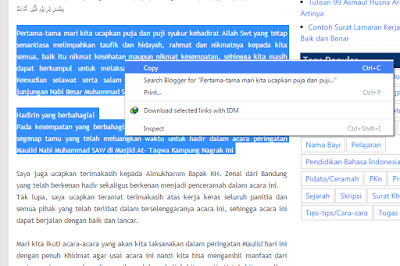 Cara Mencopot Anti Copy Paste Di Blog