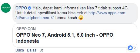 Kenapa Oppo Neo 7 Tidak Bisa 4G?