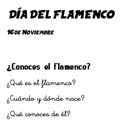 El Flamenco en la Escuela. 16 de Noviembre Día del Flamenco Partituras y Fichas para Colorear. Actividades, Partituras de Alegrías y Sevillanas con Notas, Palmas y Bombo a 3 tiempos