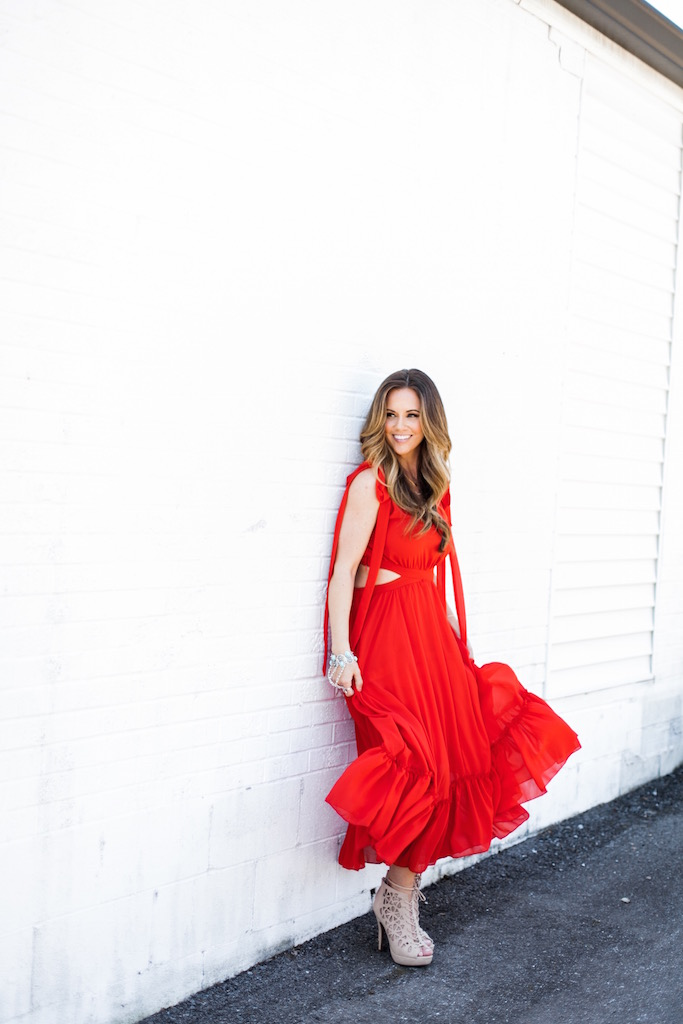 KBStyled: red maxi dress red dress summer dress summer maxi dress maxi dresses sleeveless dress