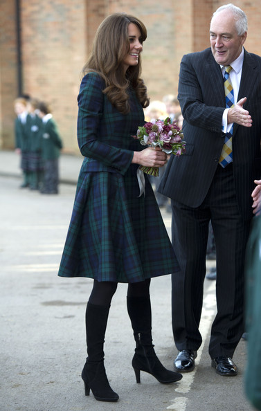 Kate Middleton visited her former school St Andrew's in Pangbourne to mark the occasion of St Andrew's Day