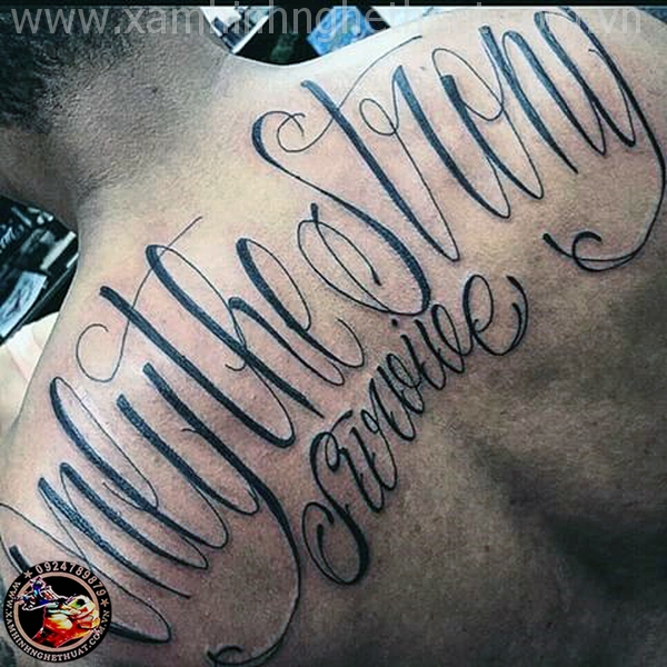 hình xăm chữ ở ngực đẹp cho cob trai tphcm