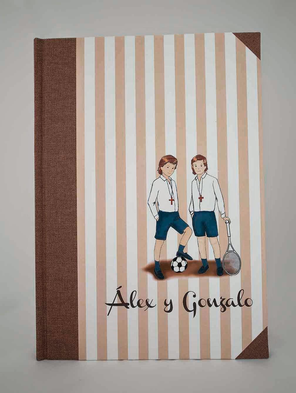 suitbook, comunion, libro firmas, encuadernacion, handmade, bookbinding