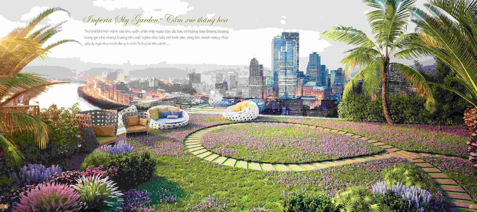 Thiết kế vườn trên mây chung cư Imperia Sky Garden