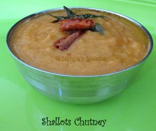 Shallots Chutney - Chinna Vengaya Chutney