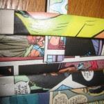 como hacer una cartera de papel con comics