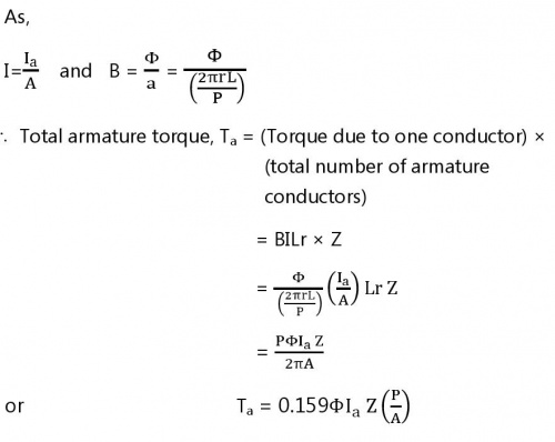 Torque Equation Of Dc Motor Electrical Simple