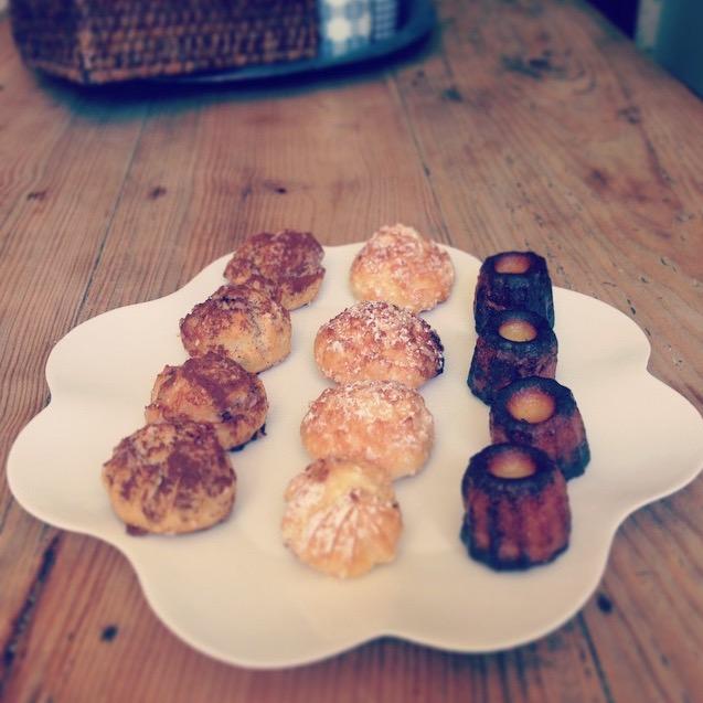 Chouquettes et cannelés