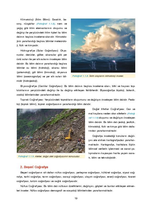 9. Sınıf Coğrafya Ders Kitabı Cevapları Fersa Yayınları Sayfa 19