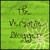 One Time Versatile Blogger Winner