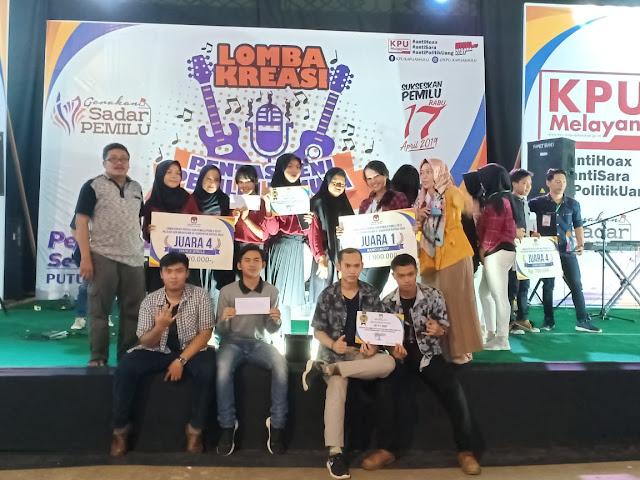 SMAN 1 Putussibau Dalam Kreasi Pentas Seni Pemilih Pemula Pemilu 2019