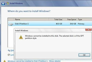 cara mengatasi windows cannot be installed on drive1