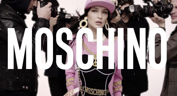 Modella Moschino pubblicità profumo: Spring Summer 2017 con Foto Testimonial Spot