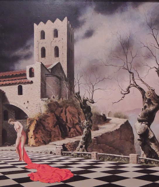 Jan Van der Loo surrealism Dalí landscape tower