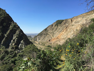 View south toward Vulcan's quarry from Van Tassel Ridge Trail, Fish Canyon, Angeles National Forest
