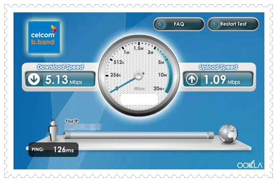Celcom Superb Broadband Speed Test Result!