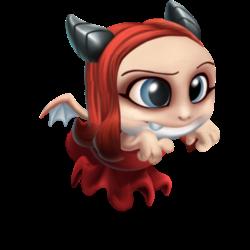 Apariencia del Dragón Bruja Roja de bebé